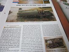 Archiv Militärfahrzeuge Schwere Rad Kfz 40.1 DAF YAZ 2300 LKW 10t Niederlande