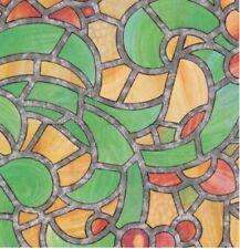 Bunte Fensterfolie Reims Adhesive Klebefilm Bleiglas Look 0,45 x 2 m grün orange