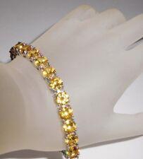 "86 Ct.t.w. BRIGHT YELLOW GOLDEN CITRINE ROUND CUT TENNIS BRACELET ~ 7"" OR 8"""