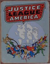 """Justice League of America"" Tin Sign Decor Wall Bar Garage Rustic 1641"