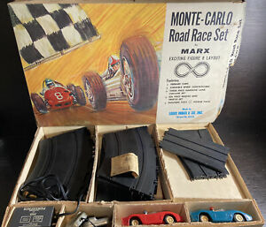 1960s Louis Marx Monte Carlo Road Race Set With Ferrari Cars
