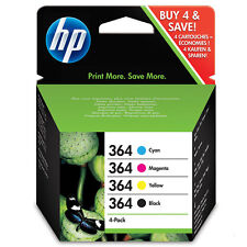 Genuine HP 364 Combo Pack Set 4 Ink B/C/M/Y for HP Photosmart 5520 7520 N9J73AE