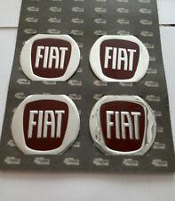 Fiat rosso 4 pezzi x60mm Centro Ruota Adesivi Copri Mozzo Custodia Logo Stemma