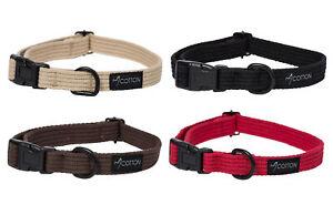 Soft Cotton Tape Dog Puppy Pet Collar Gor Pets Adjustable Comfort Lightweight