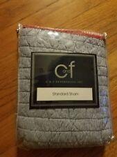 New~ C&F Enterprises Standard Pillow Sham Red Blue White Striped * Americana *
