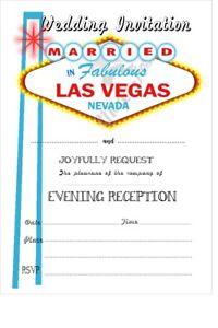 Las Vegas Invitations For Ebay