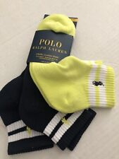 NWT POLO RALPH LAUREN 3 PAIRS Classic Sport SOCKS Arch Support Sz Mens 6-12