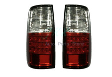 RH+LH Red/Clear Tail Lamps Lights For Toyota Land Cruiser FJ82 LC80 1991-1997