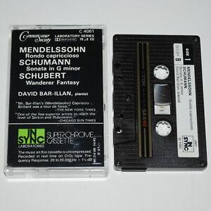 Bar-Illan Mendelssohn Schumann Schubert In Sync Audiophile Direct To Cassette