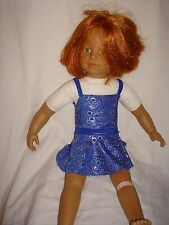 """Handmade Justaucorps & jupe ideal for AMERICAN GIRL 18"""" Fashion Doll blue BUB"""