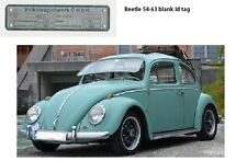 Typenschild Schild vw Kafer typ 1/11  9/1953-8/1963