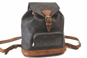 Authentic Louis Vuitton Monogram Montsouris MM Backpack M51136 LV C2325
