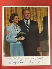 Betty Ford & President Gerald Ford Signed 8x10 Photograph