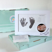 Baby Print Kit Wooden Pack- capture baby's hand and footprints with photo Gift