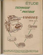 REVUE TECHNIQUE AUTOMOBILE 129 RTA 1957 PANHARD PANHARD 4 HL DIESEL HYDRAMATIC