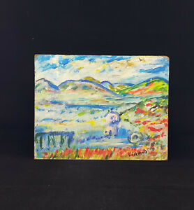 James Lawrence Isherwood? Signed House In The Middle Of A Mountain Landscape