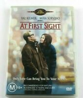 DVD MOVIE- AT FIRST SIGHT - VAL KILMER & MIRA SORVINO - GREAT WATCHING - CHEAP