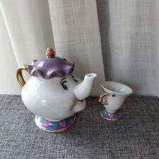 Cartoon Beauty And The Beast Tea Set Mrs Potts Teapot Chip Pot Cup Set Xmas Gift