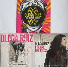 OLIVIA RUIZ - 3 CD SINGLES PROMO COMME NEUFS - PORT COMPRIS - À SAISIR !