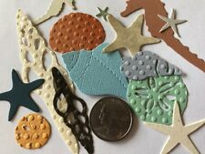 BEACH THEMED DIE-Cuts(14pc) Seahorse•Shells•Ocean•Starfish•Sea •Sand Dollar•Sand