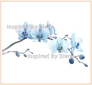 Furniture & Wall clear STICKER / Cut & Stick / Furniture Decal / Flowers 0030