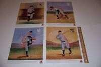 1970's Citgo NEW YORK YANKEES Legends Set of 4 LOU GEHRIG Rizzuto STENGEL Lefty