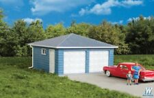3793 Walthers Cornerstone Two Car Garage w Small and Large doors Kit HO Scale