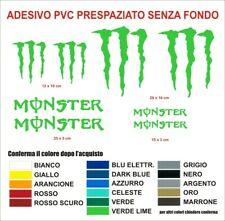 Adesivi Monster sponsor energy drink graffio auto moto stickers decals sbk casco