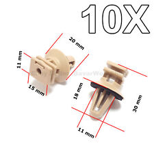 10X Trims on Sill & Door Entrance - Biege Clips, Rocker Inner Trim for BMW