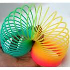 """Colorful Rainbow Plastic Magic Spring Glow-in-the-dark Slinky Childrens Toy 3"""" A"""