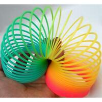 "Colorful Rainbow Plastic Magic Spring Glow-in-the-dark Slinky Childrens Toy 3"" A"