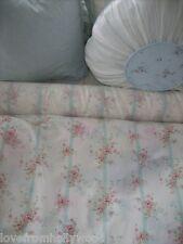 Rachel Ashwell Shabby Chic fabric Bemberg Silk Roses white aqua pink flowers