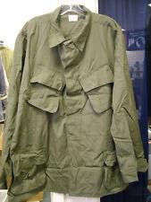 US Army Vietnam War Olive Green Slant Pocket Shirt Poplin Og-107 XLarge Vintage