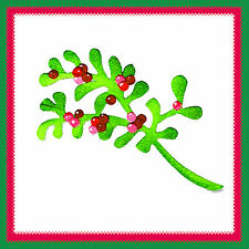 Sizzix Mistletoe medium die #656726 Retail $11.99 WONDERFUL, Cuts Fabric!!!