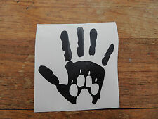""" Hand with Paw Print ""logo Bumper Sticker/Decal /vehicles/Pets/Dogs"