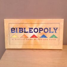 vintage bibleopoly board game a biblical game of faith and fun new like monopoly