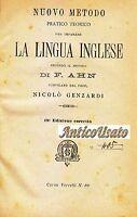 NUOVO METODO PRATICO TEORICO PER IMPARARE LA LINGUA INGLESE Ahn 1903  Genzardi