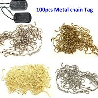 10/15cm Metal Ball Chain with Connector Clasp String for Keychain Tags - 100pcs