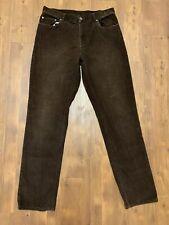 Brooks Brothers Corduroy Pants Mens 36 X 34 Brown Khaki Slim Fit (Flaw)