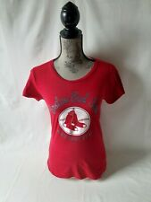 Boston Red Sox women's red short sleeve top Size M