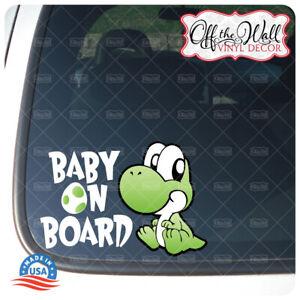 "Baby Yoshi ""BABY ON BOARD"" Vinyl Sticker #D3"