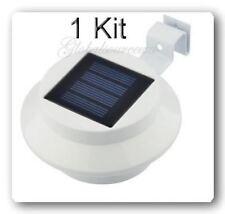 1 Kit Outdoor Solar Powered 3 LEDs Wall Path Landscape Mount Garden Fence Light