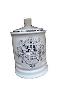 Fortnum&Mason Potted Blue Stilton Tea Spices Ceramic Empty Storage Jar Pot & Lid