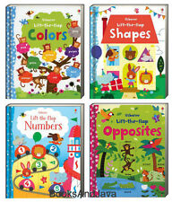 Usborne Lift The Flap Colors,Shapes,Numbers & Opposites Felicity Brooks Board Bk