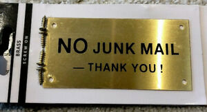no junk mail sign New
