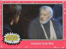 Star Wars JTTFA Neon Parallel Base Card #70 Lessons from Ben