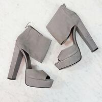 [ JENNIFER HAWKINS For Siren ] Womens Grey Leather Heels Shoes | Size 8