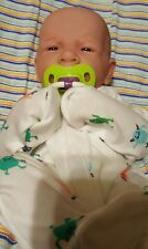 "BABY BOY!! FIRST YAWN REBORN BERENGUER BOY DOLL 14"" PREEMIE W BOTTLE PACIFIER ++"