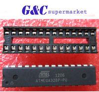 5PC ATMEGA328P-PU with arduino UNO BOOTLOADER  + DIP SOCKET NEW