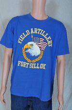 Vintage '80s Field Artillery Fort Sillok blue Artex soft t shirt L